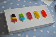 Lollipops on canvas