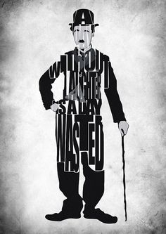 Charlie Chaplin Typography Poster by GeekMyWalL on Etsy, $25.00