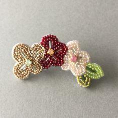 【Flower】 3フラワーブローチ  ET17918(PI)    ハンドメイドマーケット minne