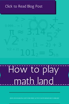 How to play math land | Read full blog post https://www.themathmentors.com/learn-to-play-math-land-a-version-of-candy-land/ | math game | math activity | maths