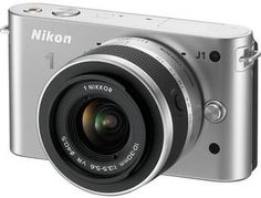 Nikon 1 J1 Mirrorless Digital Camera with 10-30mm VR Zoom Lens (Silver)