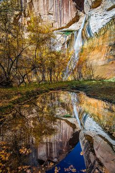 Lower Calf Creek Falls, Grand Staircase-Escalante National Monument, photo by Gary Schmickle Escalante National Monument, Escalante Utah, Visit Utah, Grand Staircase, Beautiful Waterfalls, Travel Images, State Parks, Places To See, Landscape Photography