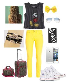 Spring Break in Disney(: by karina143xx on Polyvore featuring polyvore fashion style American Eagle Outfitters 7 For All Mankind Converse U.S. Traveler Ray-Ban clothing
