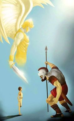 Reading and meditating on Bible accounts like David and Goliath can build our faith up. We are making our shield of faith bigger! Christian Life, Christian Quotes, Bible Art, Bible Verses, David And Goliath, Prophetic Art, Biblical Art, Spiritual Warfare, Jehovah's Witnesses