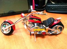 Aluminum Cans, Custom Choppers, Bottle Crafts, Upcycle, Biker, Steampunk, Friends, Artwork, Model