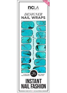 Truth in Turquoise nail wraps feature luminous tortoise shell. A perfect accessory and pop of color for any look. Gorgeous bright and mystical manicure for the Summer season!   NCLA 2016