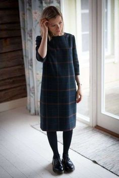 Merchant and Mills Camber with Long sleeve mod - love the fabric too! Clothing, Shoes & Jewelry - Women - leggings outfit for women - Look Fashion, Winter Fashion, Fashion Outfits, Womens Fashion, Fashion Coat, Dress Fashion, Fashion Clothes, Merchant And Mills, Vogue