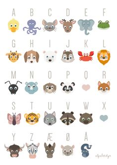 The french ABC poster · Alfabetdyr Abc Poster, Poster Prints, Kids Z, Diy For Kids, Animal Templates, Baby Barn, Baby Room Art, Toddler Preschool, Little People