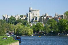 Image detail for -Windsor Castle as seen from River Thames Windsor, Berkshire, England, UK