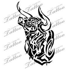 Marketplace Tattoo Tribal Bull #5058 | CreateMyTattoo.com