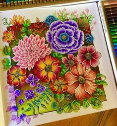 Secret Garden Coloring Book, Coloring Book Art, Mandala Coloring, Coloring Pages, Adult Coloring, Colour Pencil Shading, Color Pencil Art, Colored Pencil Artwork, Colored Pencils