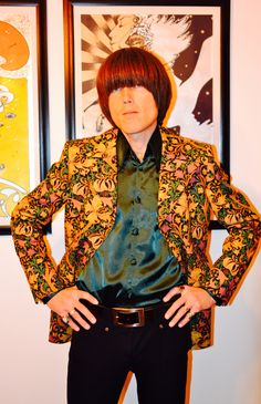 William Morris - vintage Golden Lilly fabric. Exact GTAT replica jacket worn by Peter Feely