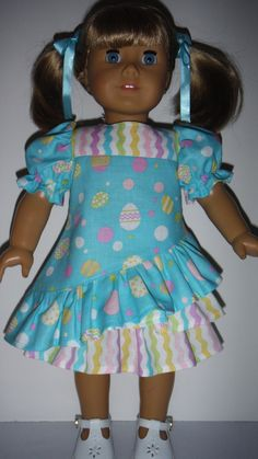 American Girl doll clothes  Easter Dress with by susiestitchit, $20.00