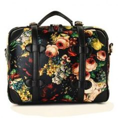 Wholesale Vintage Women's Tote Bag With Oil Painting and Chains Design (BLACK), Tote Bags - Rosewholesale.com