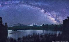 yellowstone panorama   Fig 1. The Milky Way over Lake Manzanita with the Chaos Crags, Lassen ...