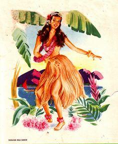 Vintage Hawaiian print.