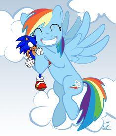 Sonic is Rainbow Dash's...Pet? by candysnow-09.deviantart.com on @deviantART
