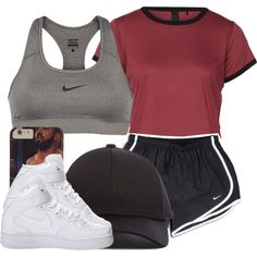 Anyone else workout daily? by ariangrant on Polyvore featuring polyvore, fashion, style, NIKE and Acne Studios