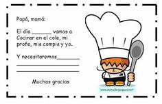 Avisos para padres taller de cocina Teacher Notes, Teacher Stuff, Orange House, Language Activities, Science For Kids, Healthy Kids, Preschool, Clip Art, Teaching