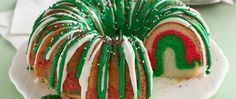 A welcome addition to any  holiday table, our delicious Rainbow Christmas Wreath is made from Betty Crocker SuperMoist white cake, fluffy white frosting, sprinkles and food coloring.