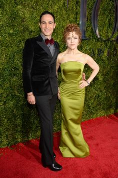 Bernadette Peters in Zac Posen with the designer - See more of the best looks from last night's 2015 Tony Awards red carpet.