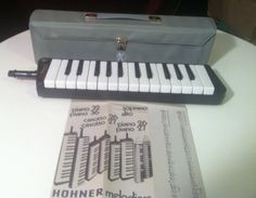 Rare Vintage Hohner Melodica Band Keyboard Piano Professional 26 Air Organ Mint In Carry Casemade in Germany wind instrument free shipping by RogueValleyWeddings on Etsy