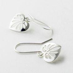 Fretwork heart earrings
