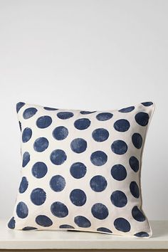 I've always loved polka dots; I've always loved navy.  Time to design a new stencil!  If only there were more hours in my day!  Am I right?