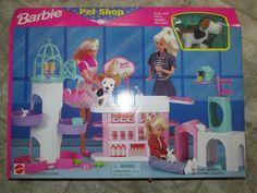 New Vintage 1998 Mattel BARBIE PET SHOP Play Set Puppy Bunnies Birds  #Arco