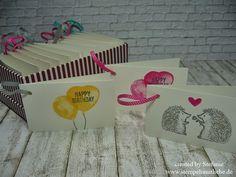 Stampin Up - Anleitung - Tutorial - Geschenkanhänger - Stempelset Balloon Builders - Wassermelone ♥ StempelnmitLiebe