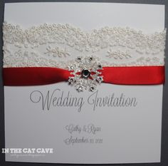 For a summer wedding, could use bright yellow ribbon and pale pink sparkly flower instead of snowflake.  Cute idea, though.