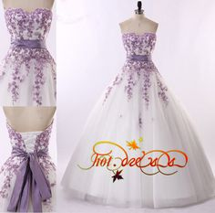 2015 white Fashion Sleeveless Color Accented Applique Ball Gown ...