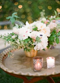 Photography: Jose Villa Photography - josevillaphoto.com Floral Design: Flowerwild - flowerwild.com   Read More on SMP: http://www.stylemepretty.com/2016/01/12/spring-al-fresco-wedding-in-rancho-santa-fe/