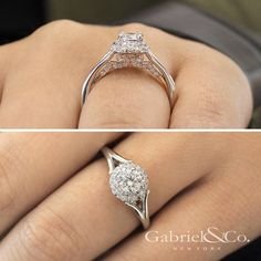 For some, it doesn't need to be complicated. It just needs to be given. #GabrielCoRetailer #GabrielNY #GabrielandCo #EngagementRing #Ring #FineJewelry #WhiteGold #Diamonds #TrueLove #BridetoBride #BrideToBe @GabrielandCo Style: ER913017R0T44JJ