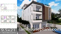 House Plans with 6 BedroomsThe House has:-Car Parking and garden-Living room,-Dining Bedrooms, 5 bathrooms 3d Home Design, Home Design Plans, Modern House Design, House Layout Plans, House Layouts, 6 Bedroom House Plans, Three Story House, Staff Room, Roof Plan