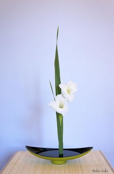 gladiolos 3 by Wabi-Sabi Ikebana, via Flickr