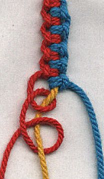 Cool easy to make braclet-red white and blue....gifts for groomsmen??