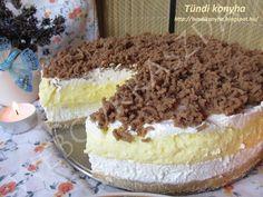 Négyemeletes mennyország Crazy Cakes, Hungarian Recipes, No Bake Treats, Greek Recipes, Cake Cookies, Food To Make, Cake Recipes, Food And Drink, Fudge