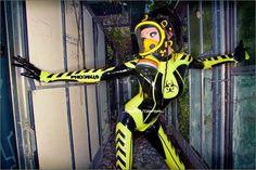 cyberpunk, cybergoth, neogoth, biohazard, futuristic clothing