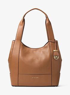 Marlon Large Leather Shoulder Tote by Michael Kors