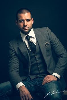 Portrait of Cedrick Leclerc, Designer at La Maison ZAZ Wedding Photos, Suit Jacket, Suits, Studio, Portrait, Jackets, Photography, Design, Fashion