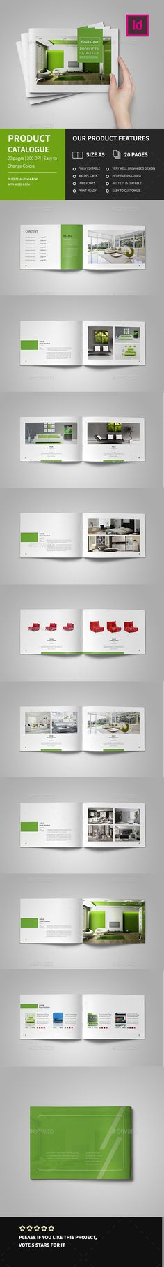 Buy Product Catalog Brochure by GraphicGrape on GraphicRiver. Product Catalog Brochure Easy to edit, you can change Green accent color throughout the whole document at once, p. Corporate Brochure Design, Brochure Layout, Brochure Template, Interior Design Layout, Layout Design, Web Design, Creative Design, Design Poster, Book Design