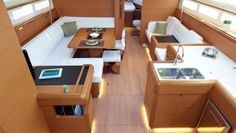 Small Yacht Interior Design Ideas Wonderful Modern Yacht Interior Design Ideas Black People Eating Interior Textured Paint Ideas An Attribute Of 12 Photograph Yacht Design, Boat Design, Seat Cushion Foam, Small Yachts, Sailboat Interior, Sailboat Living, Boat Projects, Tiny House Cabin, Kabine