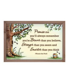 Look at this #zulilyfind! 'Promise Me You'll Always Remember' Framed Sign by My Word! #zulilyfinds