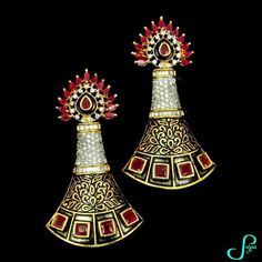 Handcrafted earrings from Sajaa Online Indian Jewellery Boutique   #fashion #handcrafted #earrings #madeinindia