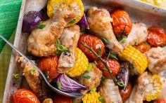 Sheet Pan Meal: Chicken & Corn Roast