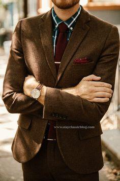 September 27, 2014. Wedding. Suit: Herringbone Suit - Topman - $110 (70% off sale!!) (similar)Shirt: Club Monaco - $34 (similar)Shoes:Holt- Robert Wayne - (JackThreads)Tie:22645SK -The Tie Bar- $15Tie Bar:C461-The Tie Bar- $15Pocket Square:PP344-The Tie Bar- $8Watch:Stillwell in Chocolate- Jack Spade (c/o)Sunglasses:Ray Ban Clubmaster- $89 (EZContactsUSA) (cheaper)Belt:J. Crew Factory- $22