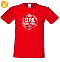 Geburtstagsgeschenk Opa Großvater :-: Herren T-Shirt als Geschenkidee :-: Bester Opa der Welt :-: Übergrößen 3XL 4XL 5XL :-: Geschenk zum Geburtstag für Opa Farbe: rot Gr: 4XL (*Partner-Link)