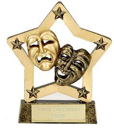 acting trophy | A1240 Shieldstar Drama Dance Trophies