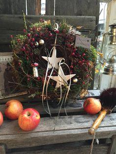 Ein Stern im Advent - Türkranz von FRIJDA im Garten - Aus einer Idee wurde Leidenschaft auf DaWanda.com